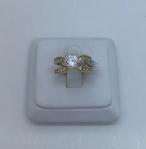 Wedding ring cz 10k for Sale in Tampa, FL