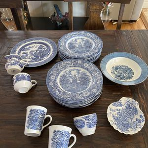 Liberty blue Dinner Plates And Cups Made In England for Sale in Los Angeles, CA