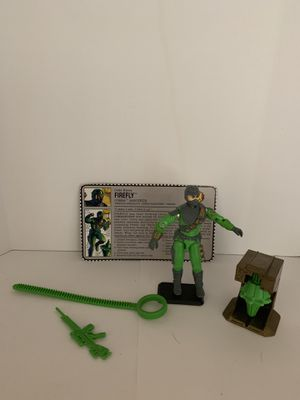 Gi Joe Firefly v2 with card and weapons. 100% complete with bio. Excellent condition for Sale in Morganton, NC