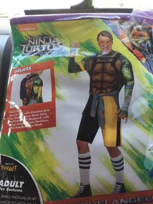 Ninja Turtles adult costume used once for Sale in Austin, TX