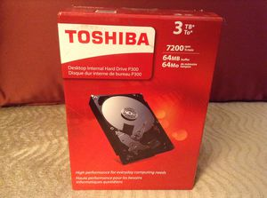 NEW 3 TB Toshiba P300 Desktop Internal Hard Drive for Sale in San Diego, CA