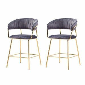 Brand New Furniture 24 Inch Gold Upholstered Bar Chairs (Set of 2) for Sale in Newport Beach, CA