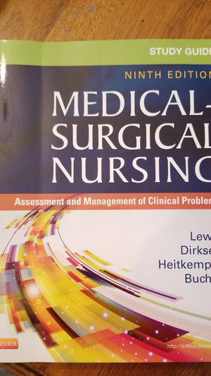 Medical-surgical nursing study guide 9th ed for Sale in Babson Park, FL