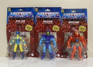RETRO Masters of the Universe Origins 3 Figures SKELETOR,EVIL-LYN & BEAST MAN for Sale in Margate, FL