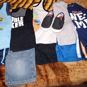 Boy Clothes N A Pair Of Shoes for Sale in Woonsocket, RI