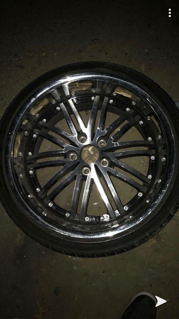 20in black chrome rims