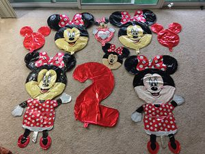 Red Minnie Mouse birthday balloon decoration- like NEW for Sale in Falls Church, VA