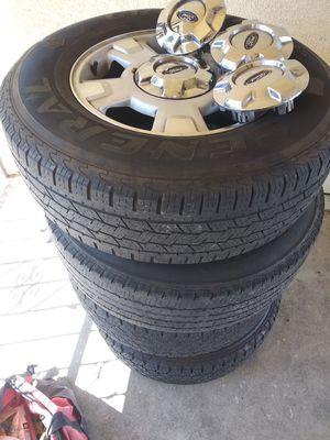 Rims &tires f150 24575r17 for Sale in San Bernardino, CA