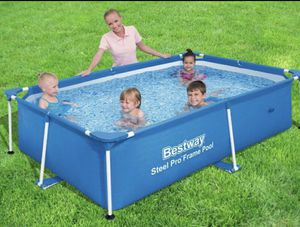 "BESTWAY STEEL PRO 94""L X 59""W X 23""D POOL WITH FILTER PUMP for Sale in Lynnwood, WA"