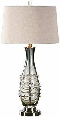 Glass lamp with shade for Sale in Cudahy, CA