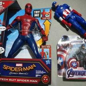 Marvel Toys- Spiderman- Captain America- Children Toy for Sale in Fort Lauderdale, FL