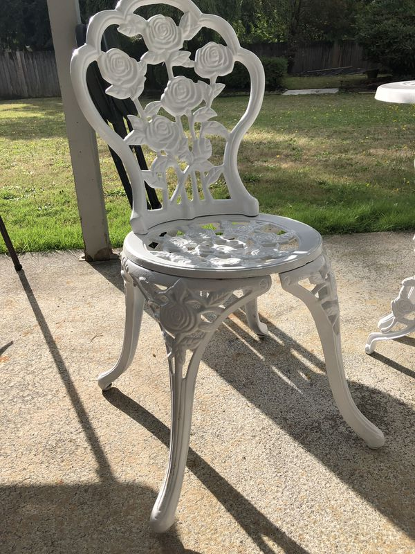 Cast iron antique patio set