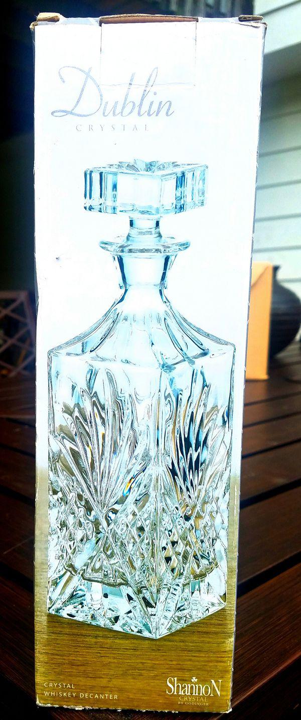 Ireland, Single Malt Whiskey Square Crystal Decanter