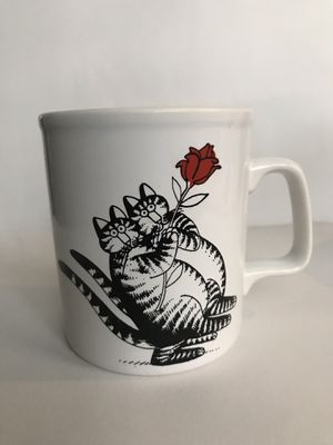 Vintage B Kliban Cat Mug, Dancing Cats Cup, Vintage Tango Rose Cats Coffee Mug, Vintage Kliban Mug, Kiln Craft Made for sale  England for Sale