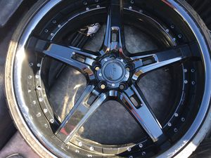 "22"" inch black on black Rims for Sale in DeSoto, TX"