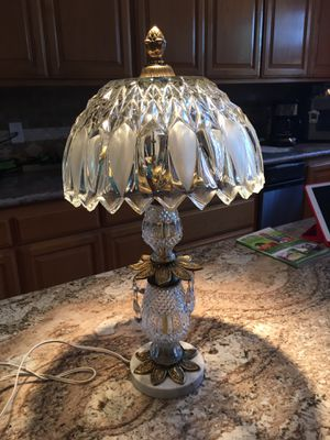 Crystal and Brass Antique Lamp. Very Cute for Sale in Fremont, CA