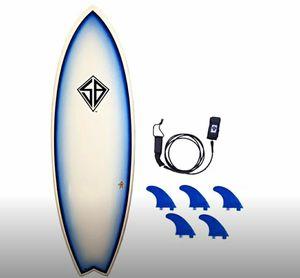 SCOTT BURKE 5'10 Flying Fish Fiberglass Surfboard for Sale in Huntington Park, CA