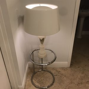 Charming chrome and glass round table for Sale in Miami, FL