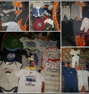 Great boy 3-6 months clothes lot 😍33 pieces!Jordan,Nike,polo outfit,carters,Puma,mickey, john deer,Calvin Klein outfit.Some never worn.good condition for Sale in Tacoma, WA