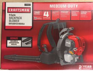 Craftsman 41AR4BEG799 32cc 4-Cycle Gas Backpack Leaf Blower. Brand New! for Sale in Inkster, MI