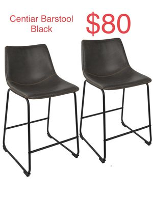 Brand New Centiar Barstool / Strong Metal & Leather Seat / Set of 2 / Total 4 available! for Sale in Las Vegas, NV