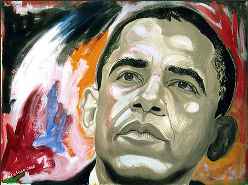 """Obama Art """"Color in the Mind's Eye"""" by David Macaluso 16x20"""