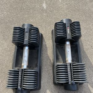 SA GEAR adjustable dumbbell pair (5-50lbs each/ 100lbs total) workout weight equipment for Sale in Wheaton, IL