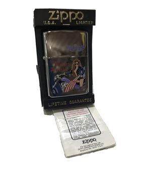 "1995 Zippo Lighter Made In USA ""Born To Ride"" Maiden America *NOT TESTED* DIsc. for Sale in Hollywood, FL"