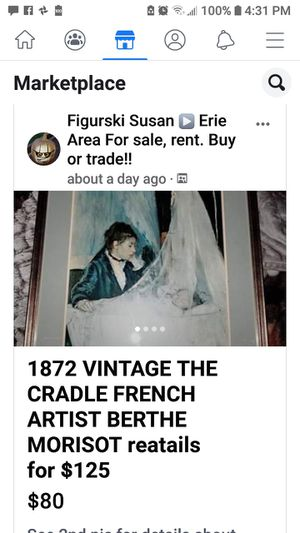 Vintage french framed print for Sale in Erie, PA