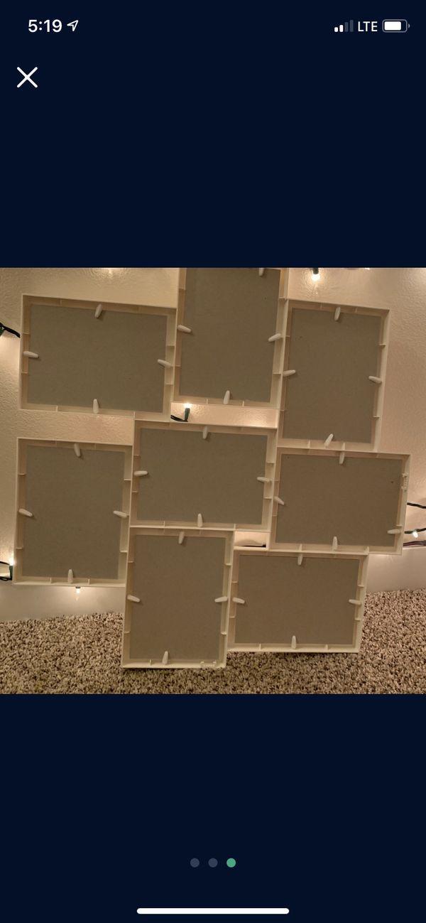 White multi picture frame