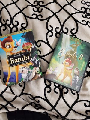 Bambi & Bambi 2 $12 for Sale in Blythewood, SC
