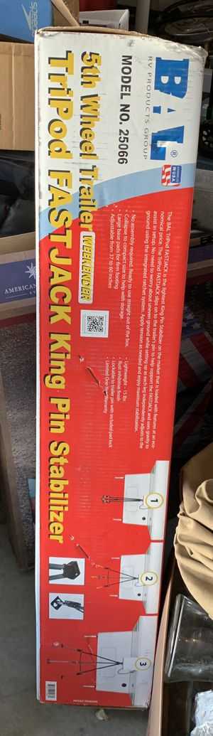 BAL 25066 TriPod FastJack King Pin Stabilizer for Sale in Winchester, CA