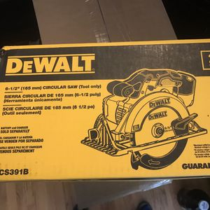 Dewalt DCS391b 6.5 In Circular Saw -new for Sale in St. Louis, MO