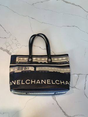 CHANEL coated canvas Le Train bag black for Sale in San Diego, CA