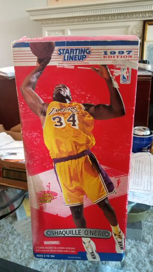 Starting lineup 1997 edition Shaq poseable figure. In box for Sale in Detroit, MI