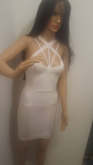 Bebe bandage dress white never worn size small for Sale in Annandale, VA