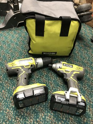 2 PC Combo Kit, Tools-Power Ryobi No Charger.. Negotiable for Sale in Baltimore, MD