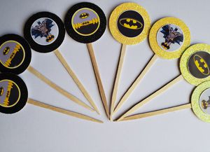 12 hulk cupcake toppers black and yellow glitter beautiful and sparkly! Super hero marvel DC comic book boys girl birthday party supplies for Sale in Los Nietos, CA