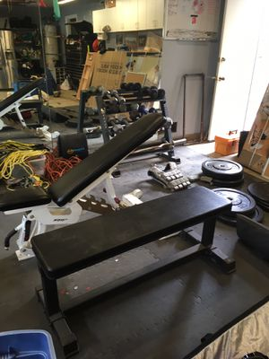Weights, bench, bumper plates, CrossFit for Sale in Alpine, CA