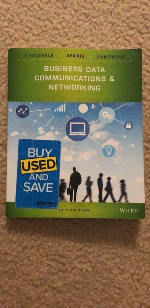 Used Business Data Communications & Networking Book 12th edition for Sale in Ashburn, VA