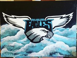 Original Philadelphia Eagles Painting for Sale in San Antonio, TX