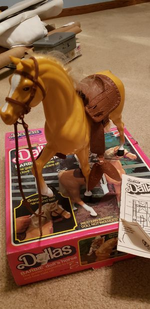 Collectible Barbie Horse w/Saddle & Stirrups --1980s for Sale in Orland Park, IL