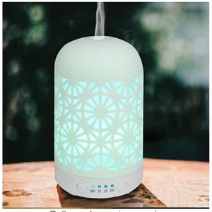 HOMNAS Essential Oil Diffuser 100ML Upgraded Ceramic Diffusers for Essential Oils Aromatherapy White Diffuser Cool Mist Humidifier with Waterless Au for Sale in Nellis Air Force Base, NV