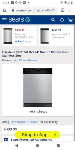 Stainless Steel Frigidaire Dishwasher for Sale in Fort Wayne, IN