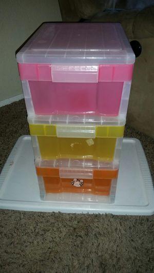 3 Drawers Plastic Storage for Sale in Everett, WA