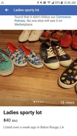Ladies size 5 Coach, Tommy Bahama, Vans for Sale in Zachary, LA