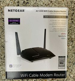 New NETGEAR Cable Modem WiFi Router Combo C6220 Compatible With Cable Providers Including Xfinity by Comcast Spectrum Cox AC1200 WiFi DOCSIS 3.0 for Sale in Vista,  CA
