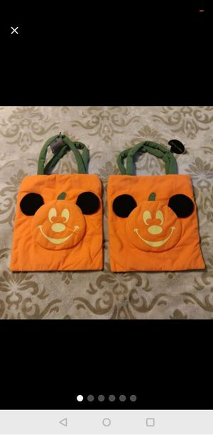 2 Disney candy trick or treat bags. Glow in the dark. for Sale in Clovis, CA