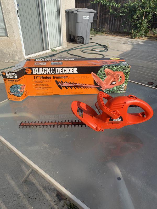 "Black& decker 17"" cord hedge trimmer"