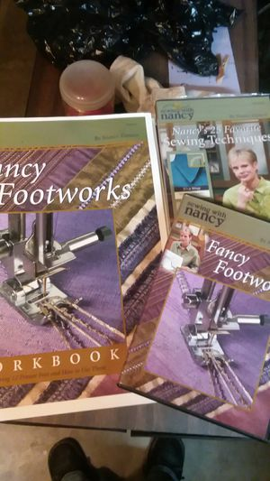 SEWING WITH NANCY WORKBOOK & 2 DVDS for Sale in Sun City, AZ